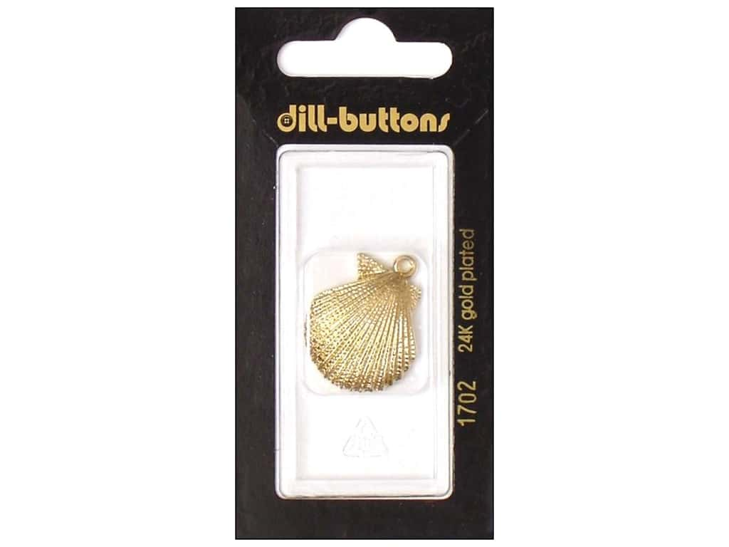 Dill Buttons 1 in. Gold Shell Charm #1702 1 pc.
