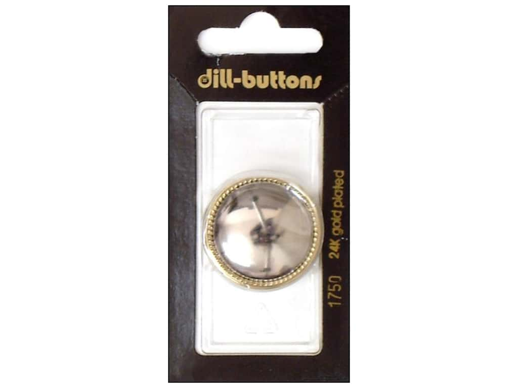 Dill Shank Buttons 1 1/8 in. Silver #1750 1 pc.