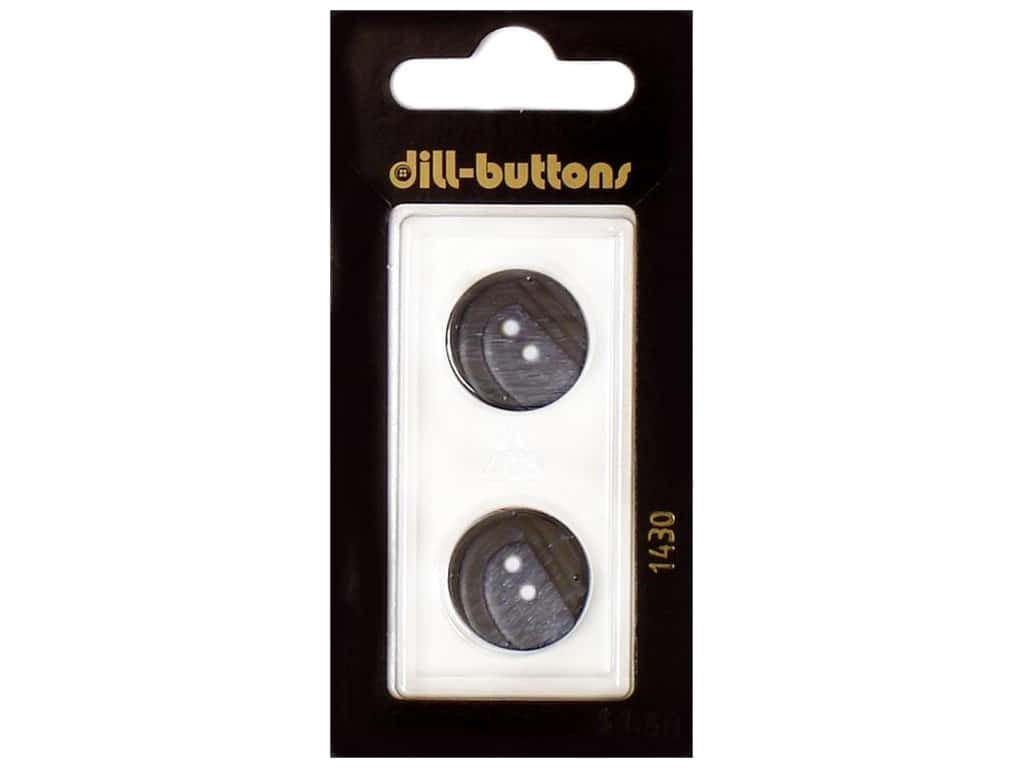 Dill 2 Hole Buttons 11/16 in. Navy #1430 2 pc.