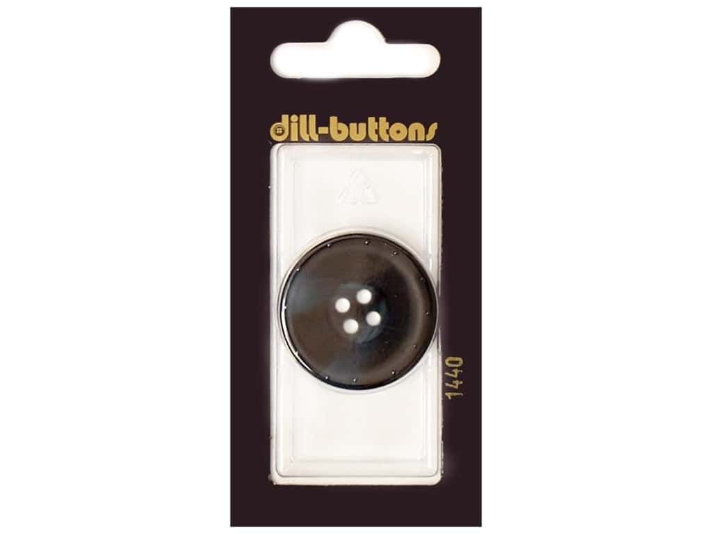 Dill 4 Hole Buttons 1 1/8 in. Navy #1440 1 pc.