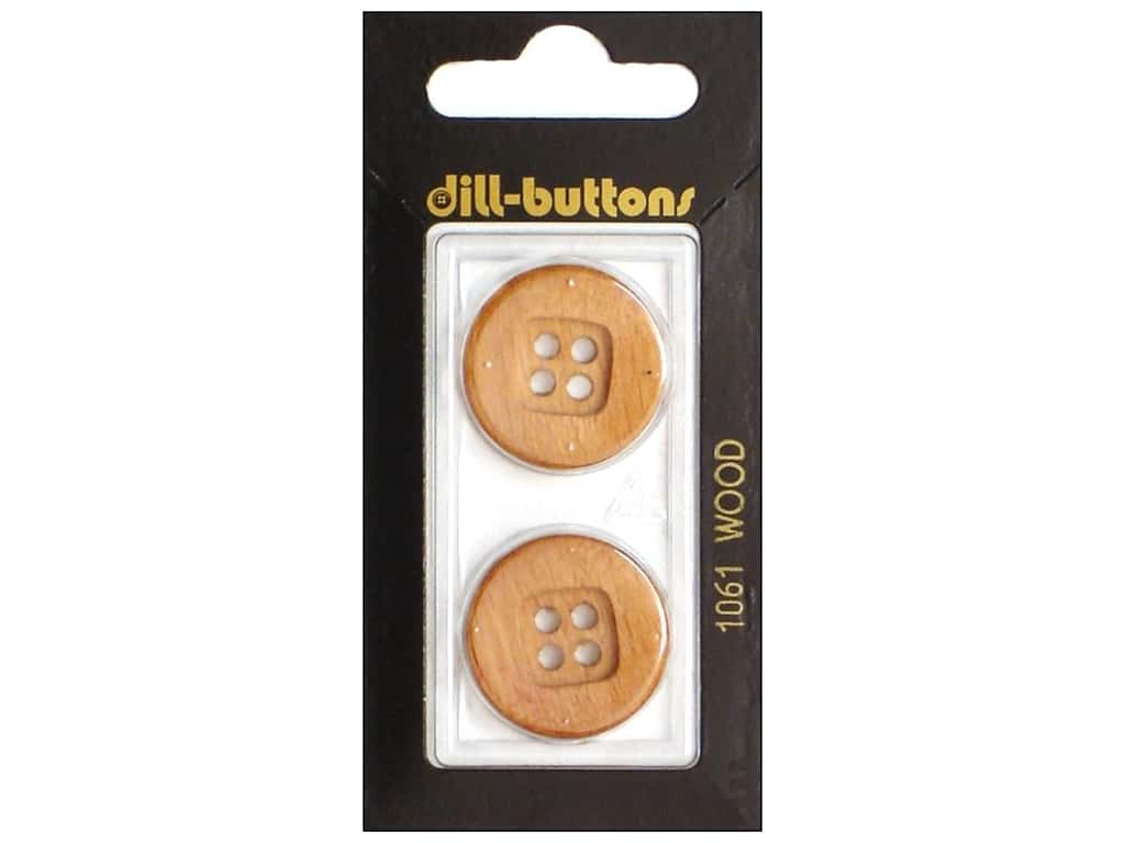 Dill 4 Hole Buttons 7/8 in. Wood Brown #1061 2 pc.