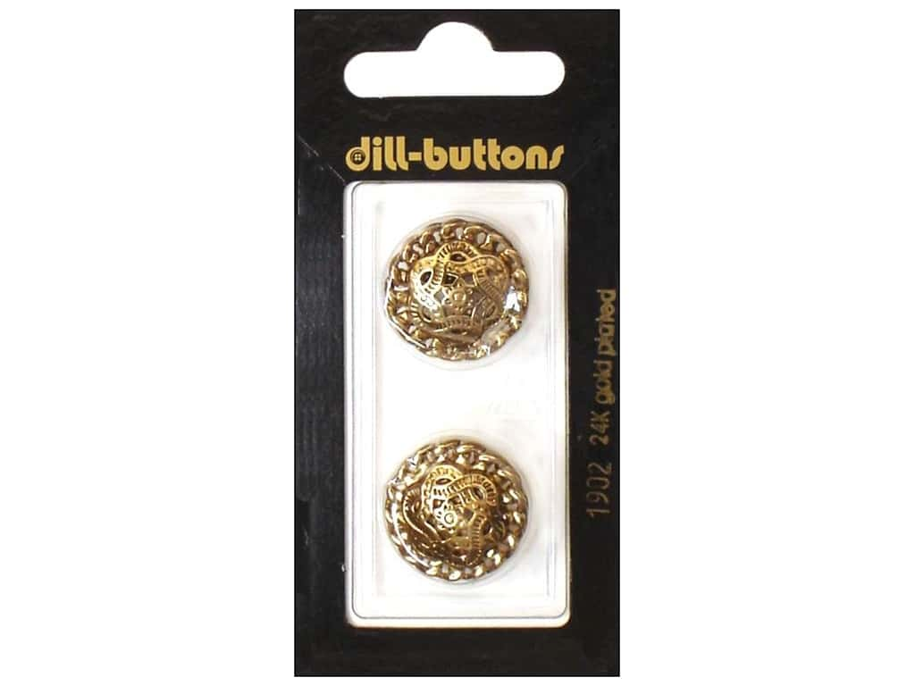 Dill Shank Buttons 13/16 in. Antique Gold Metal #1902 2 pc.