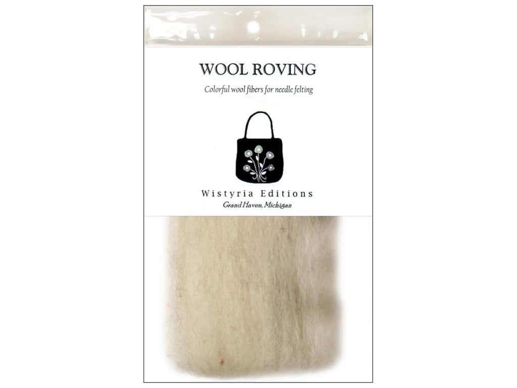 Wistyria Editions Wool Roving 12 in. Light Grey