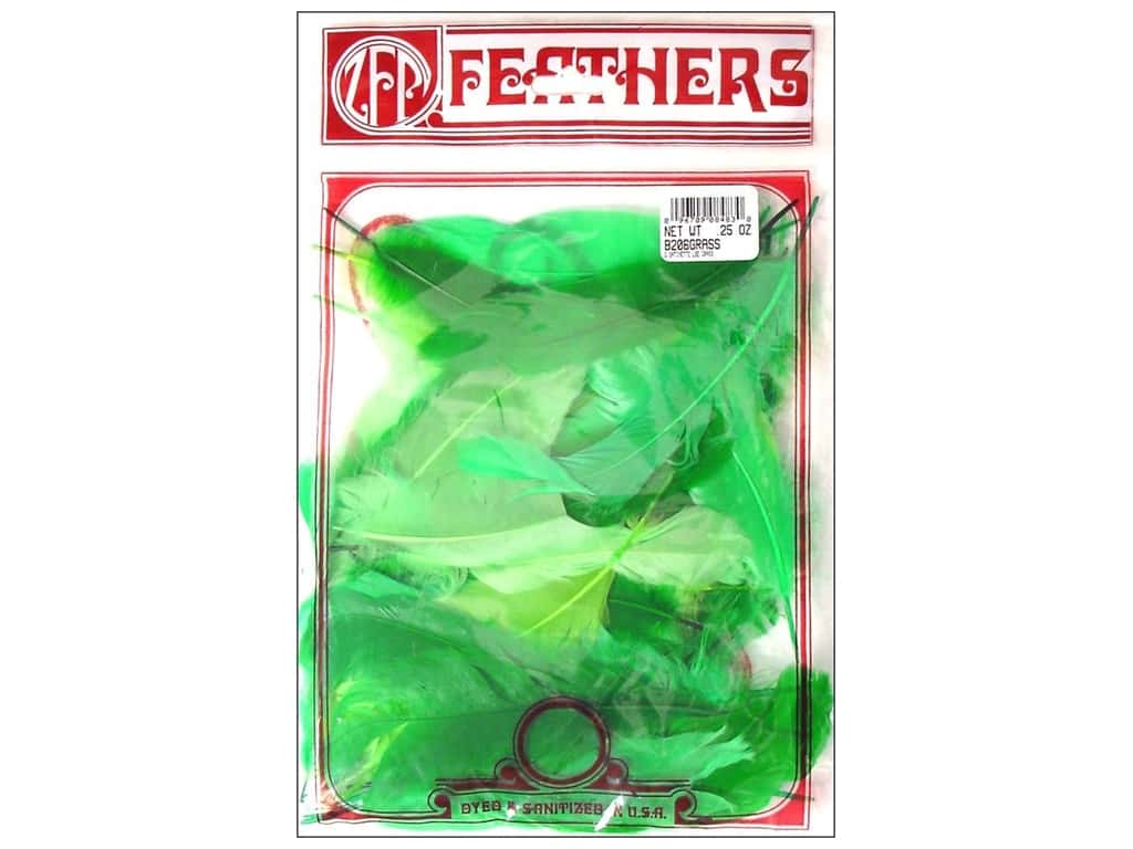 Zucker Feather Goose Satinettes Feathers 1/4 oz. Grass Mix