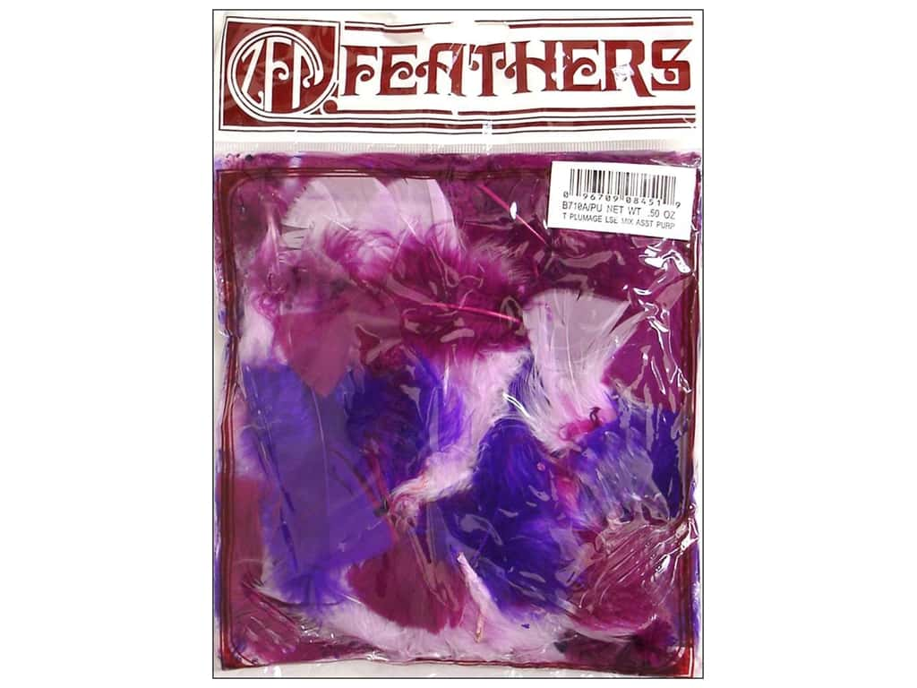 Zucker Feather Turkey Plumage Feathers 1/2 oz. Purples Mix