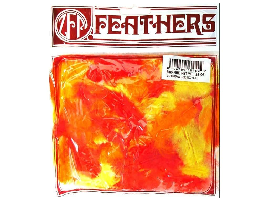 Zucker Feather Rooster Plumage 1/4 oz. Fire Mix