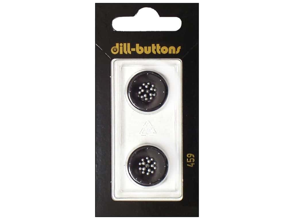 Dill Shank Buttons 11/16 in. Black #459 2 pc.