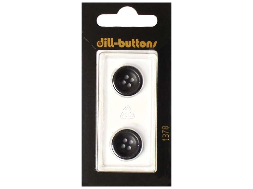 Dill 4 Hole Buttons 5/8 in. Navy #1378 2 pc.