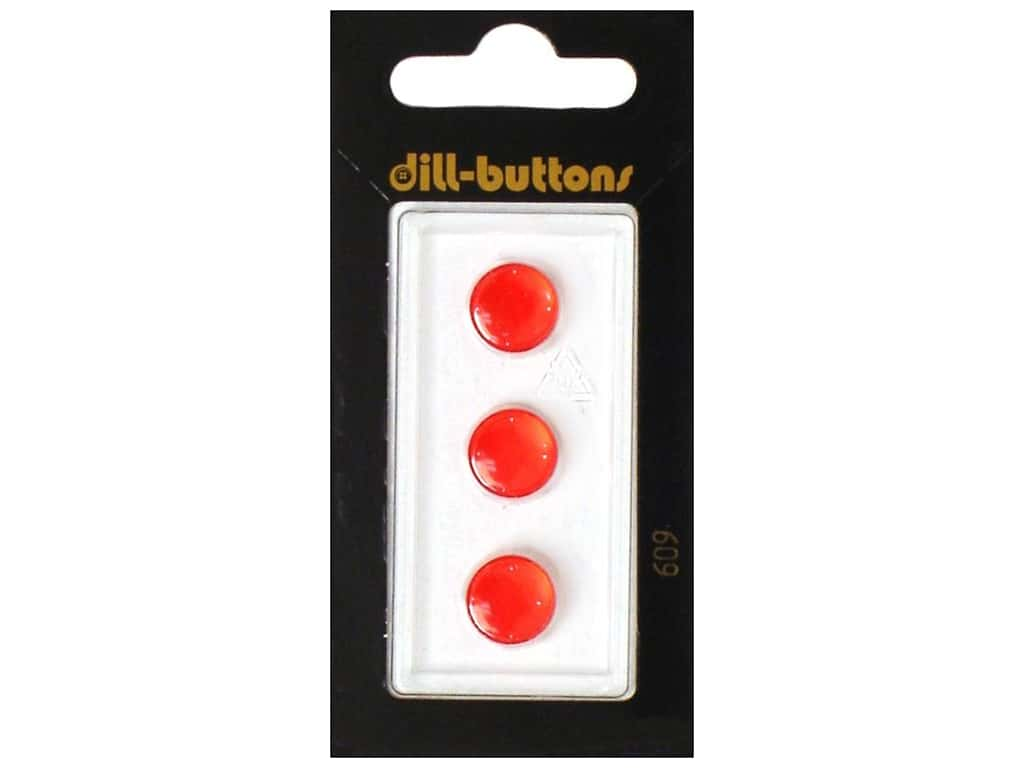 Dill Shank Buttons 7/16 in. Red #609 3 pc.