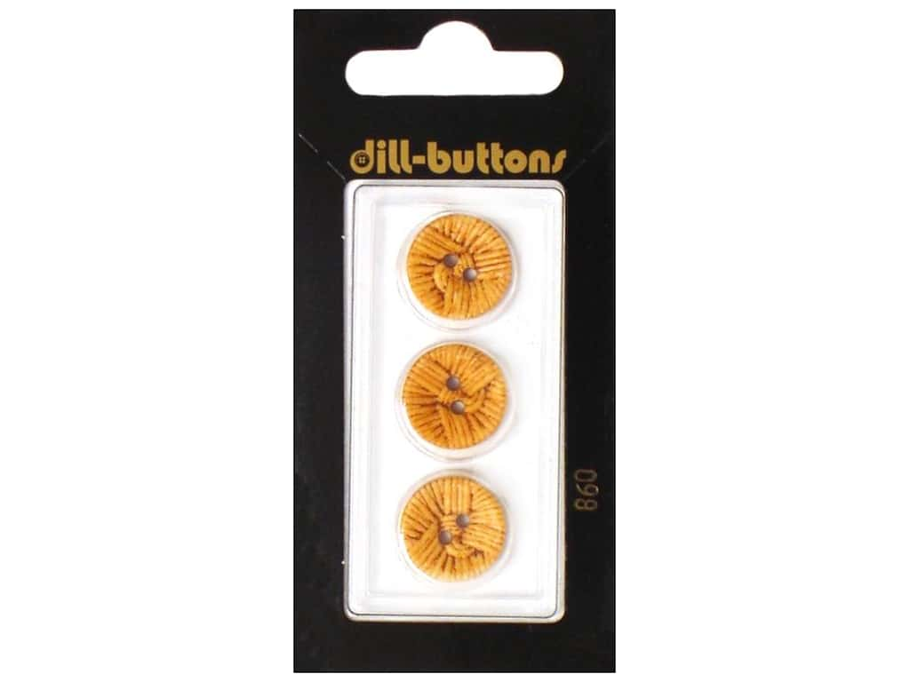 Dill 2 Hole Buttons 5/8 in. Brown #860 3 pc.