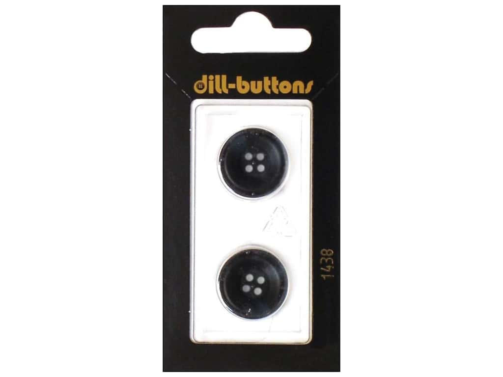 Dill 4 Hole Buttons 11/16 in. Navy #1438 2pc.