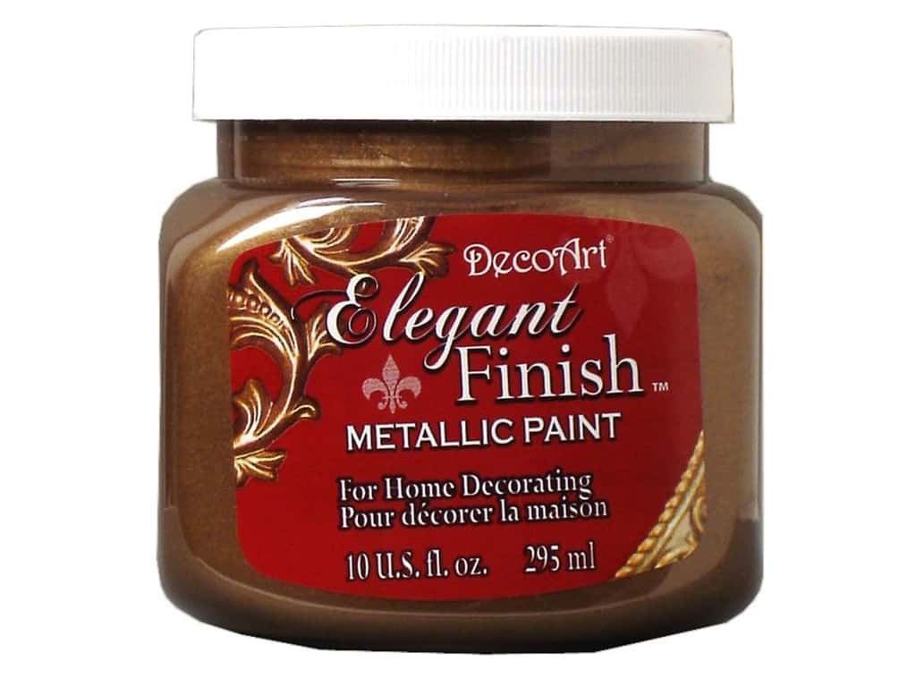 DecoArt Elegant Finish Metallic Paint 10 oz. Rich Espresso