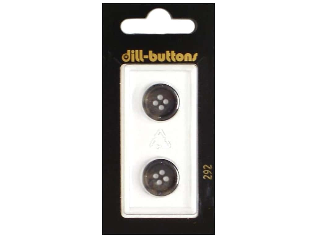 Dill 4 Hole Buttons 5/8 in. Grey #292 2 pc.