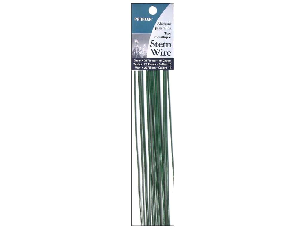 Panacea Stem Wire 18 in. 18-Gauge 20 pc. Green