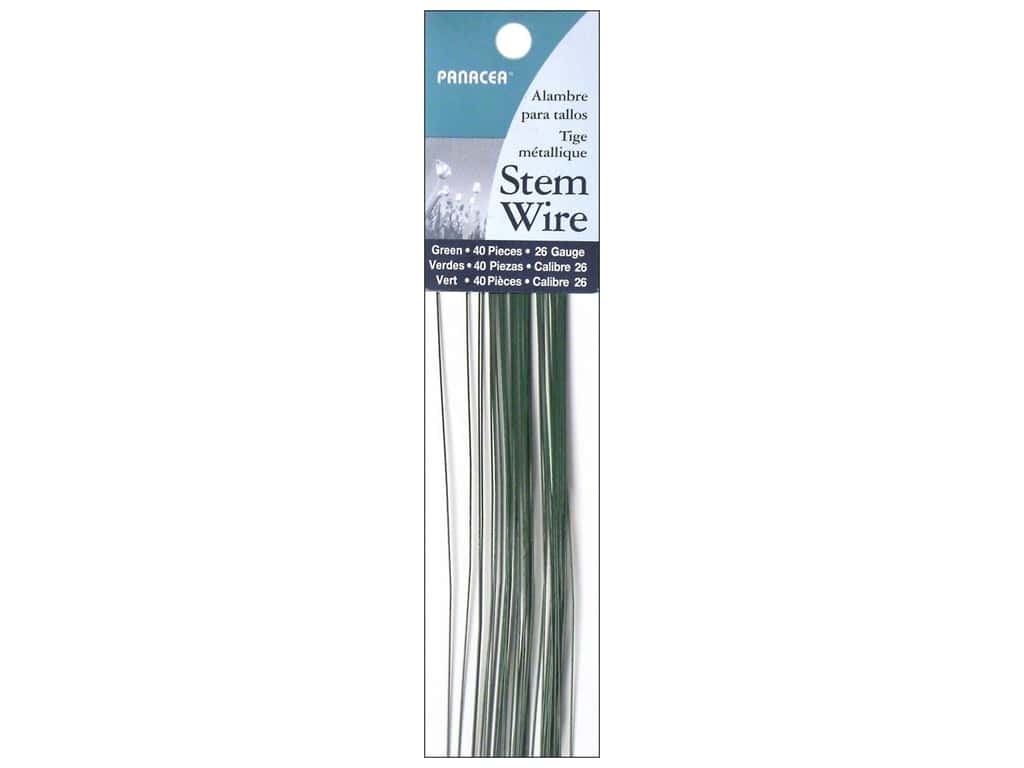Panacea Stem Wire 18 in. 26-Gauge 40 pc. Green
