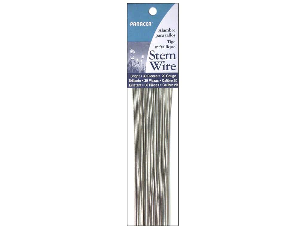 Panacea Stem Wire 18 in. 20-Gauge 30 pc. Bright