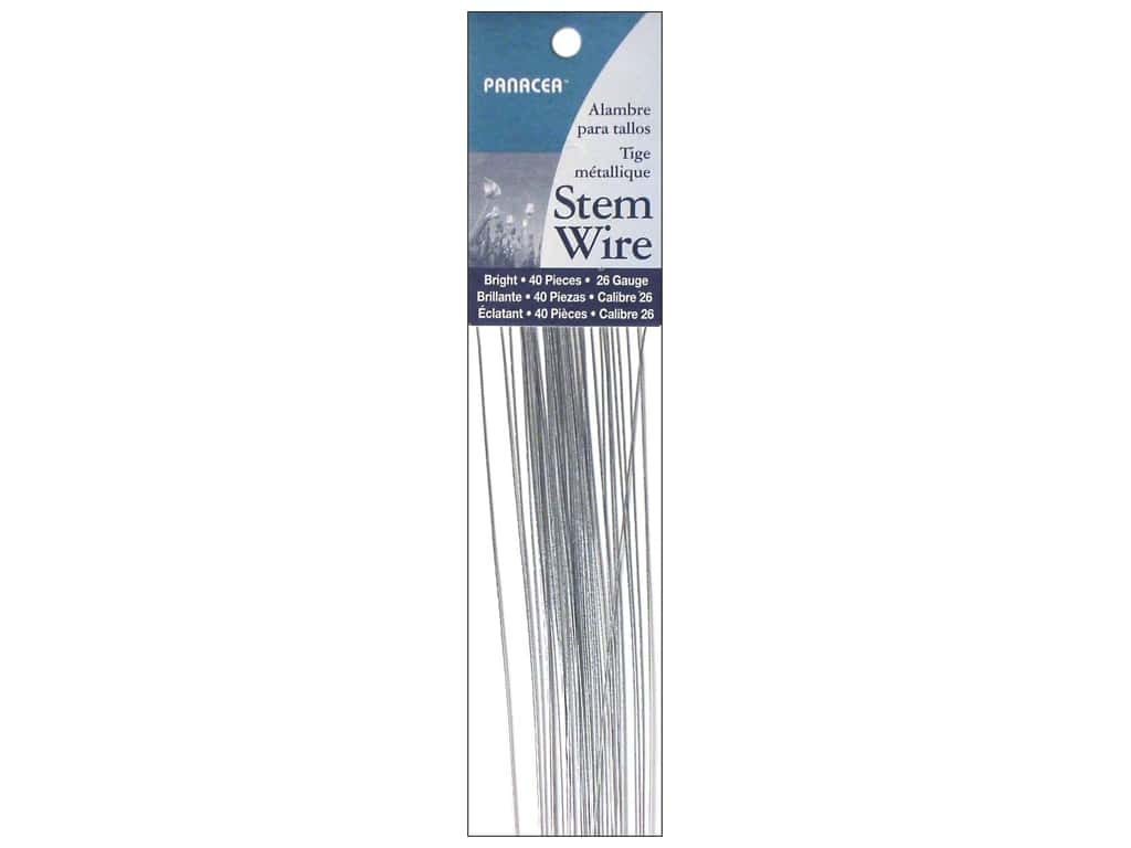 Panacea Stem Wire 18 in. 26-Gauge 40 pc. Bright