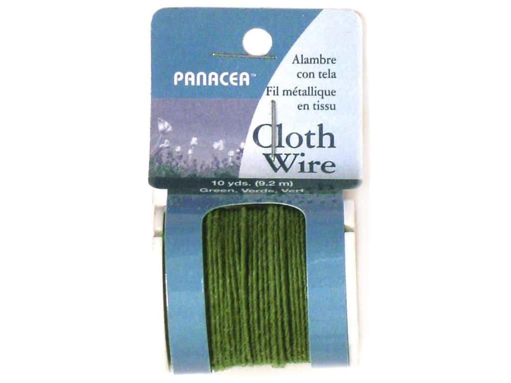 Panacea Cloth Stem Wire 10 yd. 32-Gauge Green