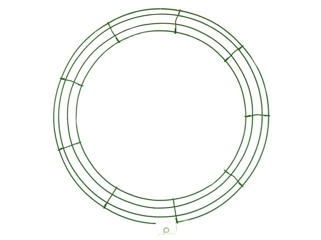 Panacea Box Wire Wreath Frame 18 in. Green (10 pieces)