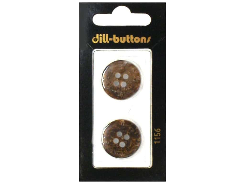 Dill 4 Hole Buttons 13/16 in. Brown #1156 2 pc.