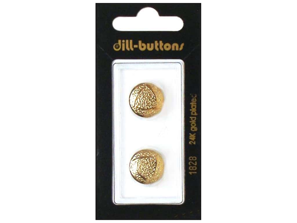 Dill Shank Buttons 5/8 in. Gold Metal #1828 2 pc.