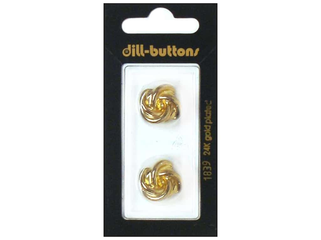 Dill Shank Buttons 11/16 in. Gold Metal #1839 2 pc.