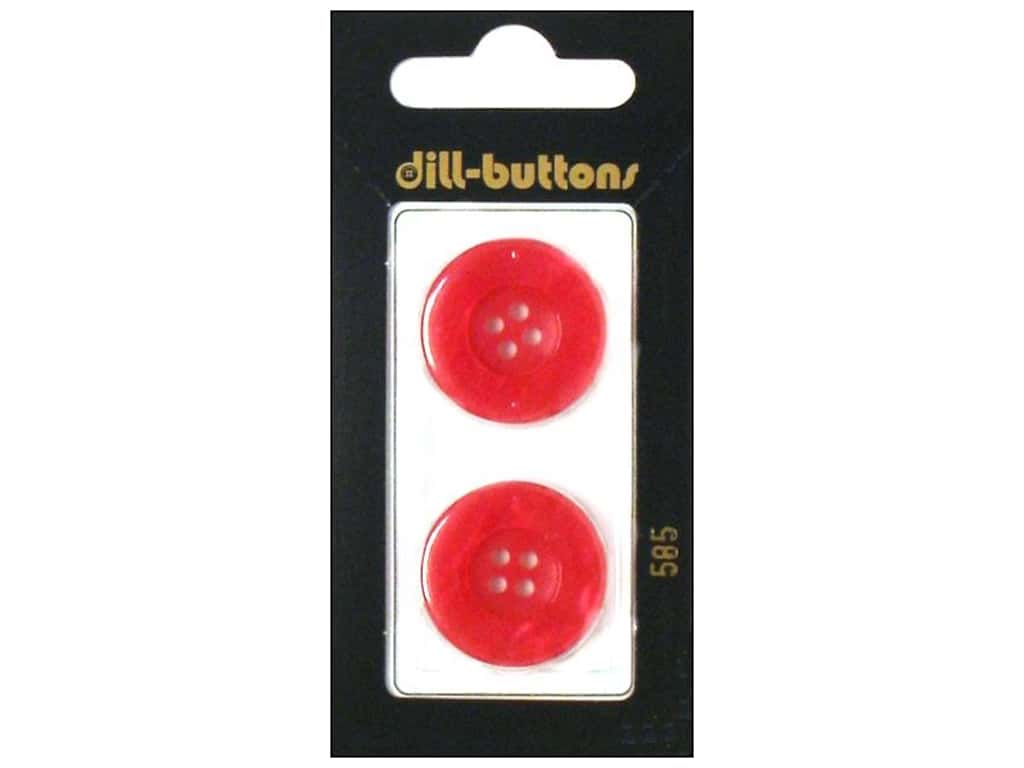 Dill 4 Hole Buttons 7/8 in. Pink #585 2 pc.