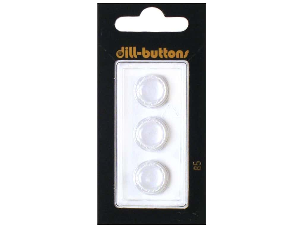 Dill Shank Buttons 1/2 in.  White #85 3 pc.