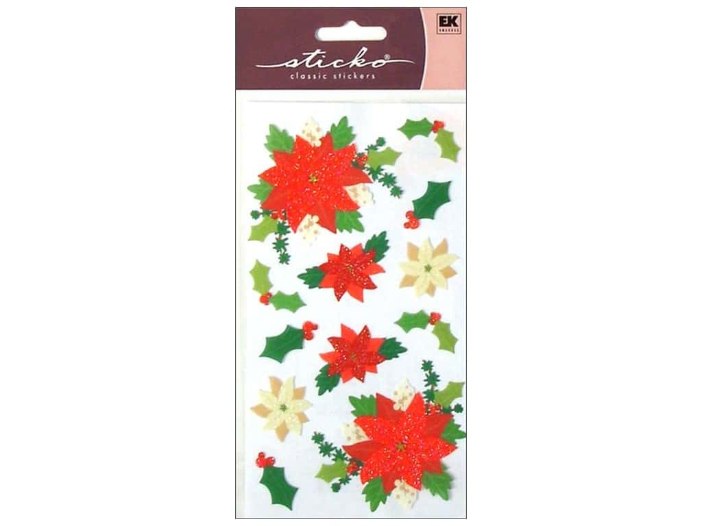 Sticko Stickers - Poinsettias