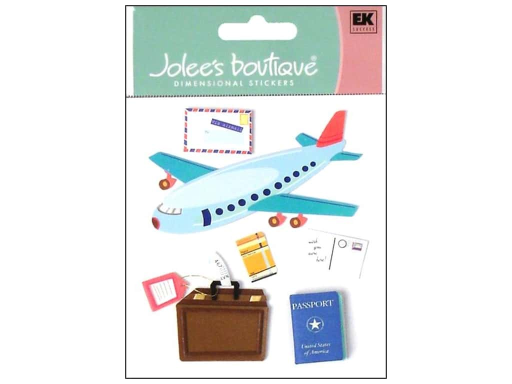 Jolee's Boutique Stickers Airplane Travel