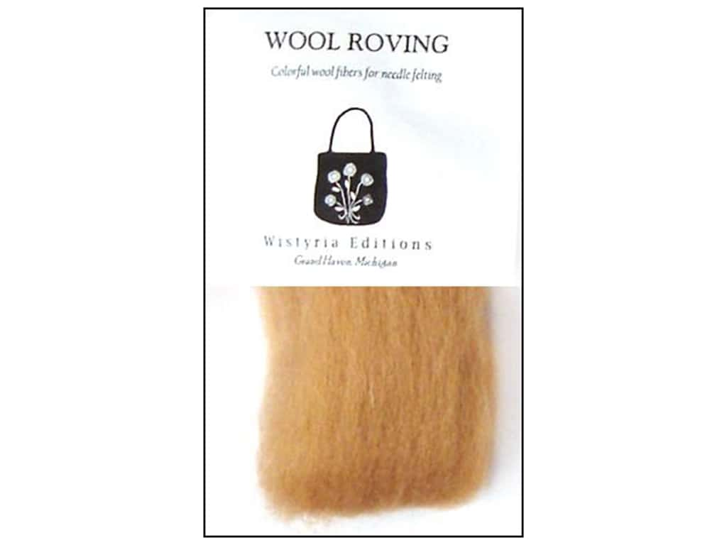 Wistyria Editions Wool Roving 12 in. Camel