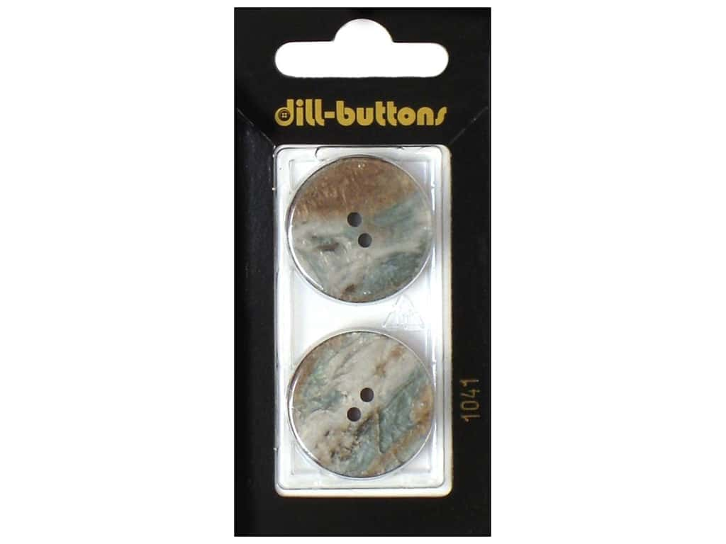 Dill 2 Hole Buttons 1 in. Brown #1041 2 pc.