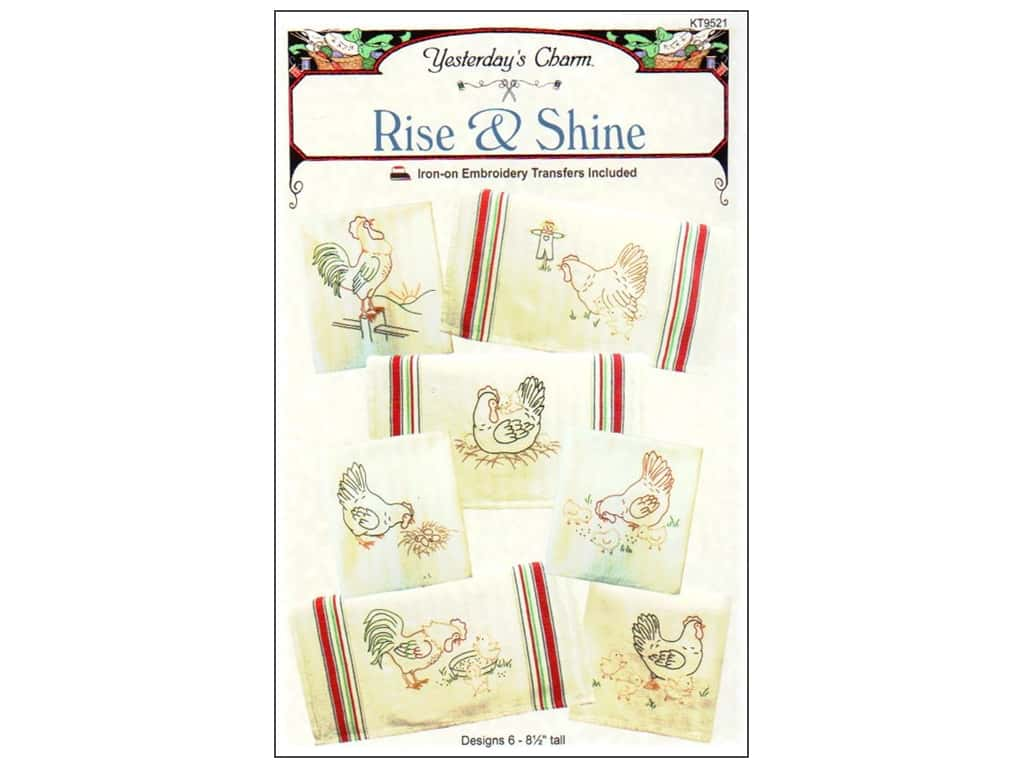 Yesterday's Charm Iron-On Embroidery Transfer - Rise & Shine