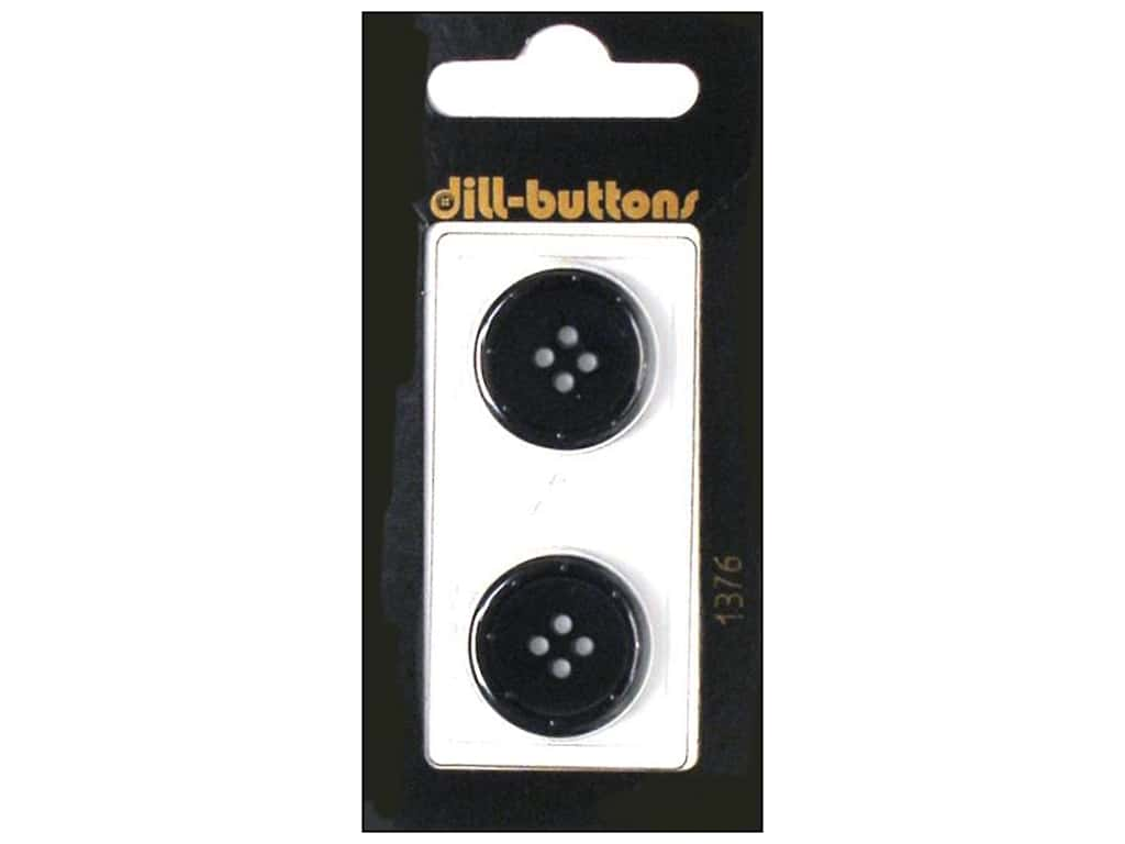 Dill 4 Hole Buttons 3/4 in. Navy 2 pc.