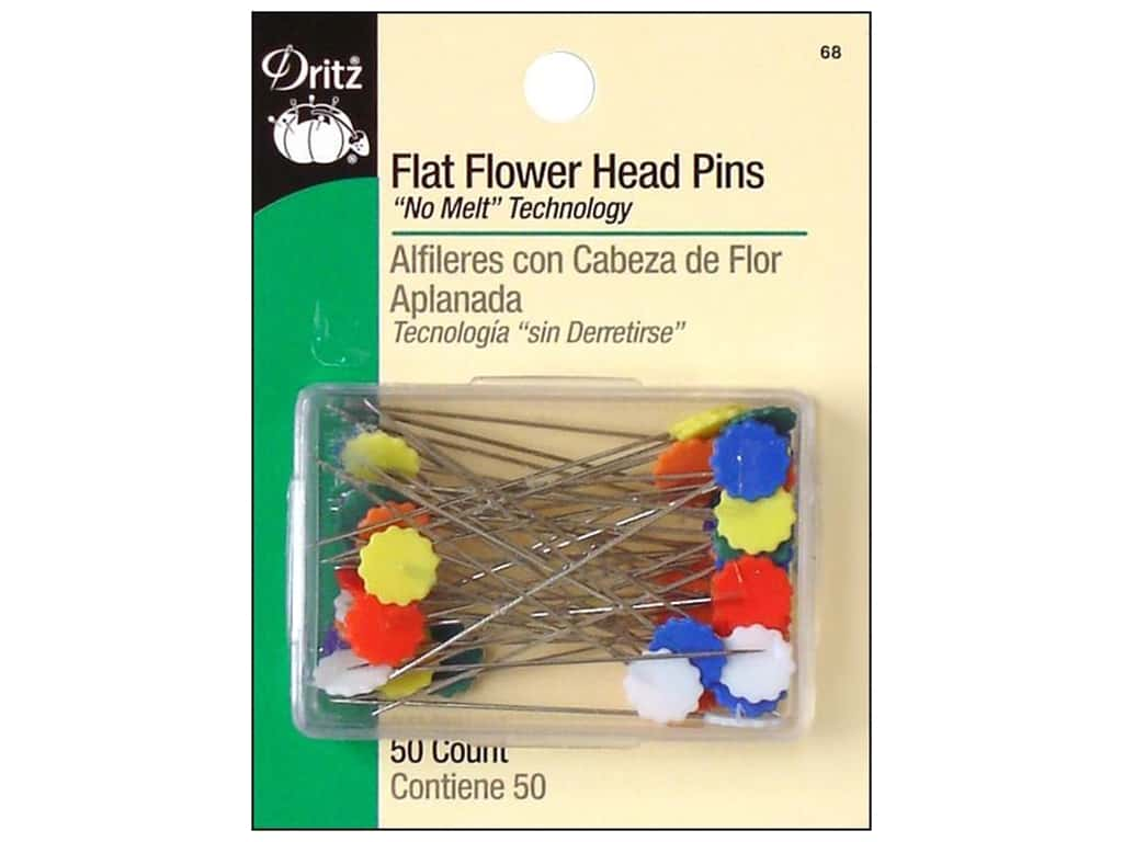 Dritz Flat Flower Head Pins 2 in. 50 pc.