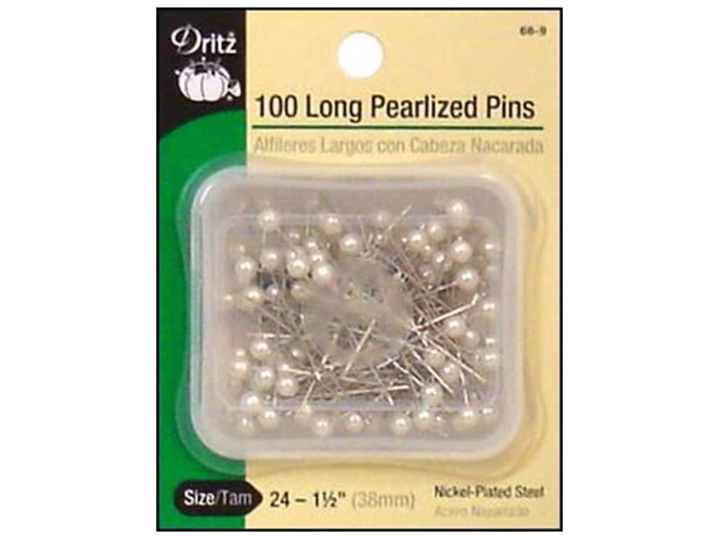 Dritz Long Pearlized Pins Size 24 100 pc. White