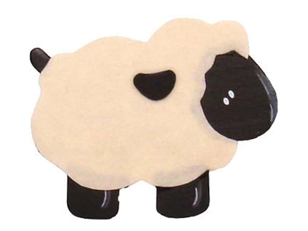 Lara's Wood Painted Sheep 4 x 3 in.
