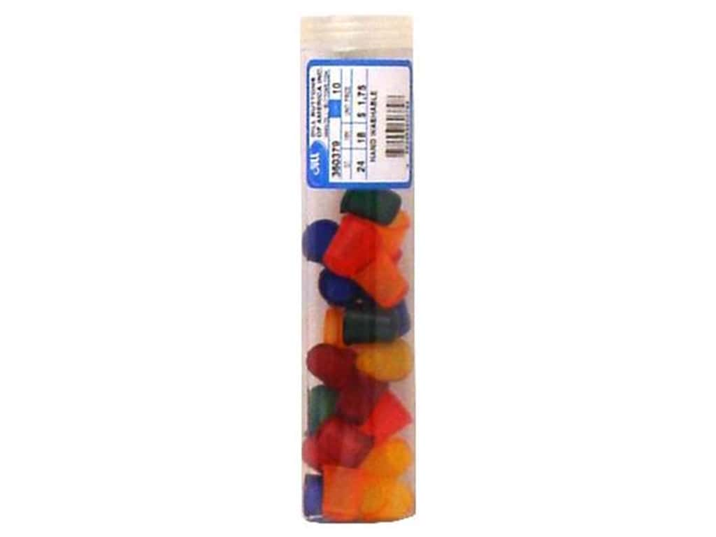 Dill Jelly Fingers Thimble 18 mm Multicolor Bright (24 pieces)