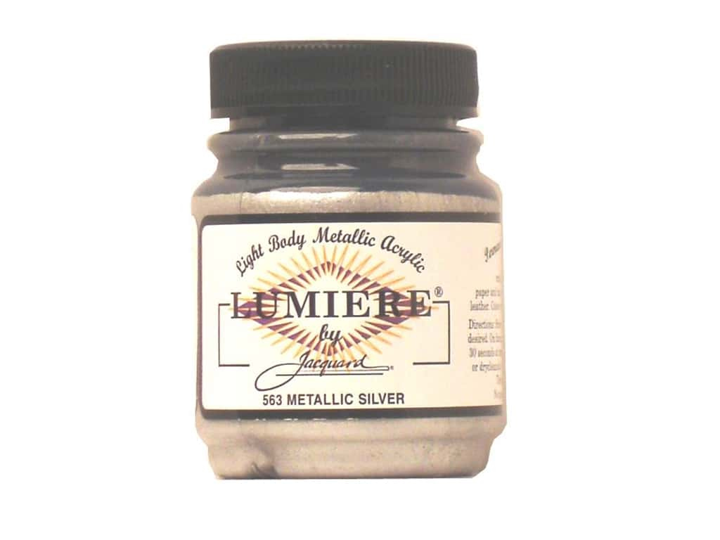 Jacquard Lumiere Paint 2.25 oz. #563 Metallic Silver