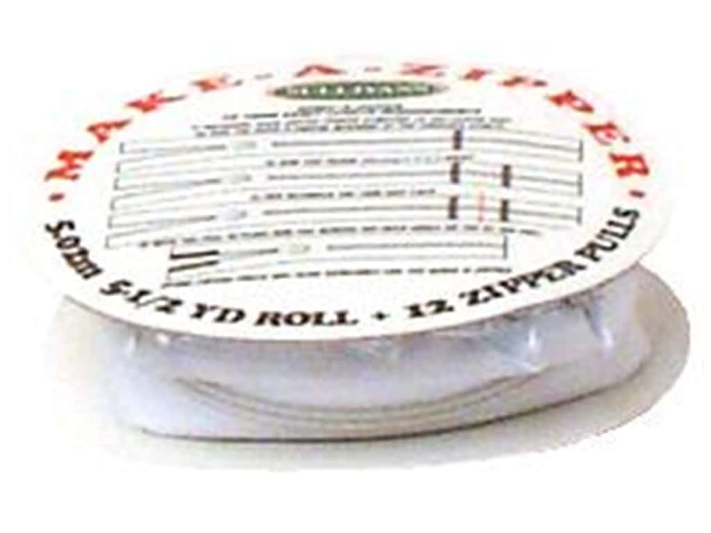 Sullivans Make-A-Zipper Kit 5 1/2 yd. White