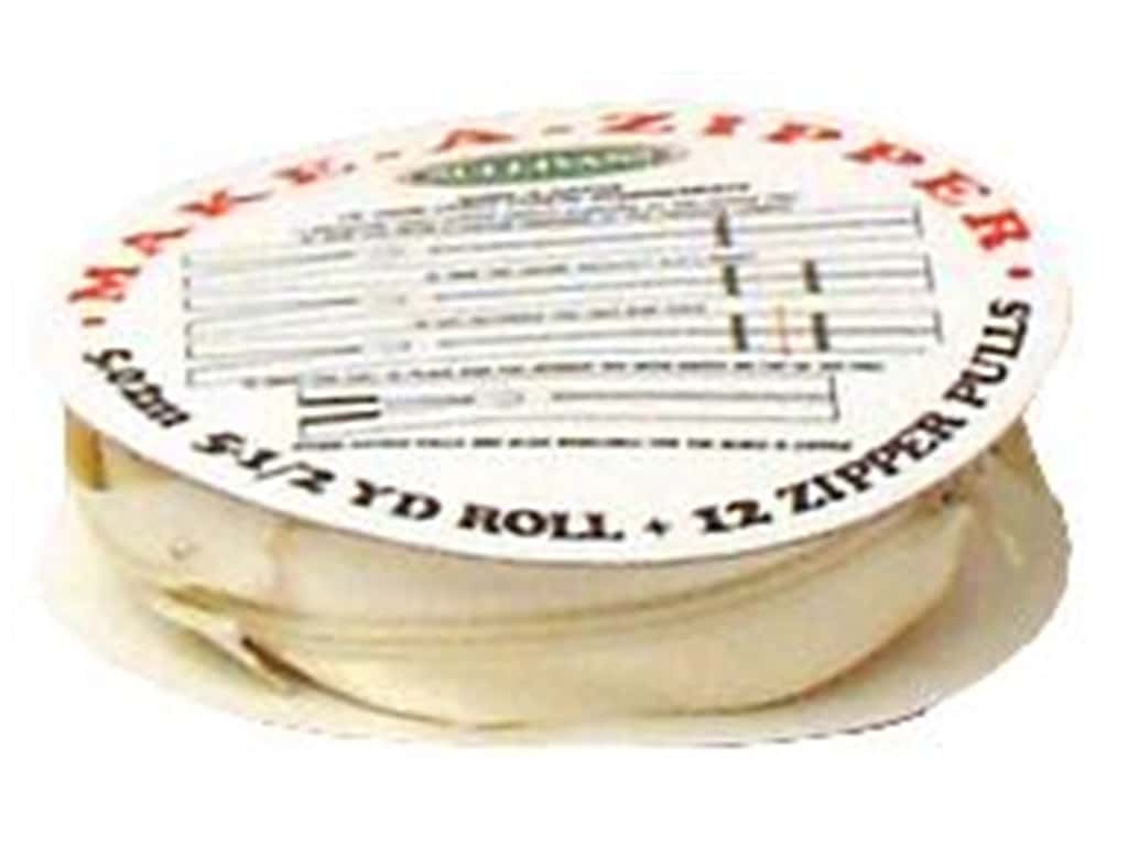 Sullivans Make-A-Zipper Kit 5 1/2 yd. Cream