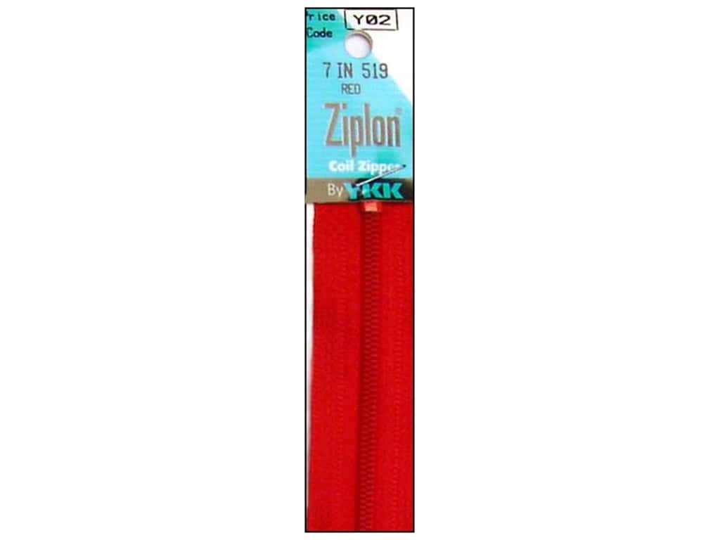 YKK Ziplon Coil Zipper 7 in. Red