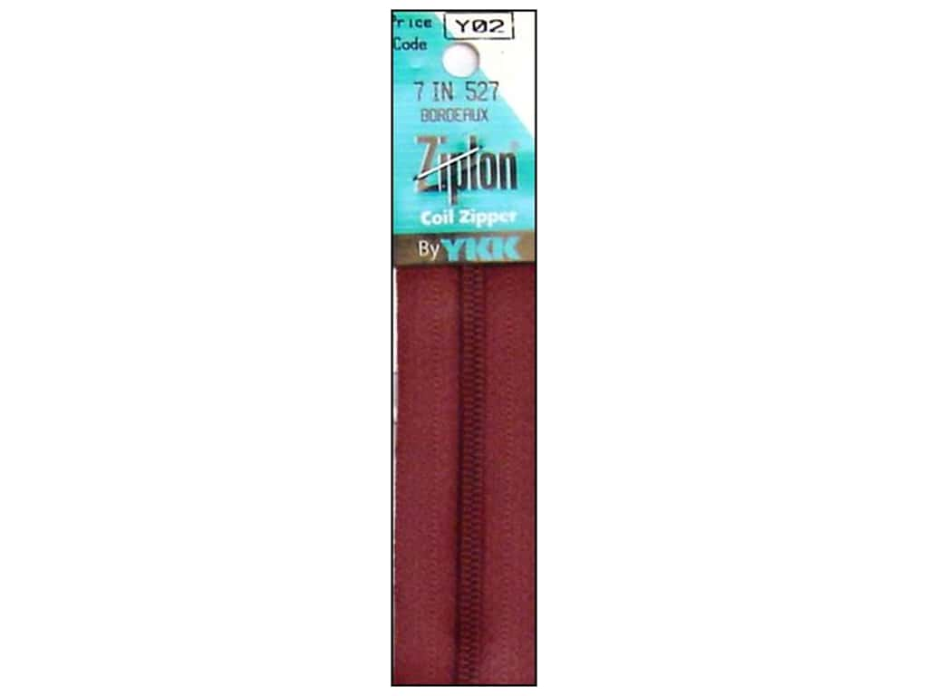 YKK Ziplon Coil Zipper 7 in. Bordeaux