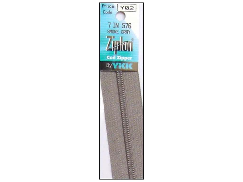 YKK Ziplon Coil Zipper 7 in. Smoke Grey