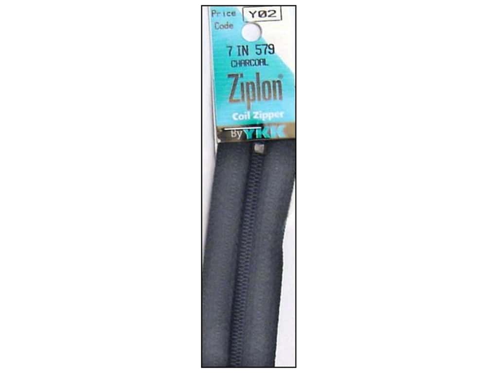 YKK Ziplon Coil Zipper 7 in. Charcoal