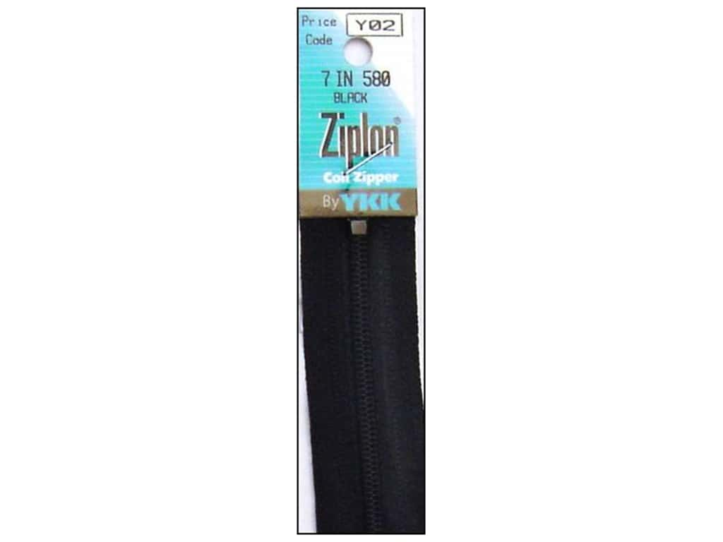 YKK Ziplon Coil Zipper 7 in. Black