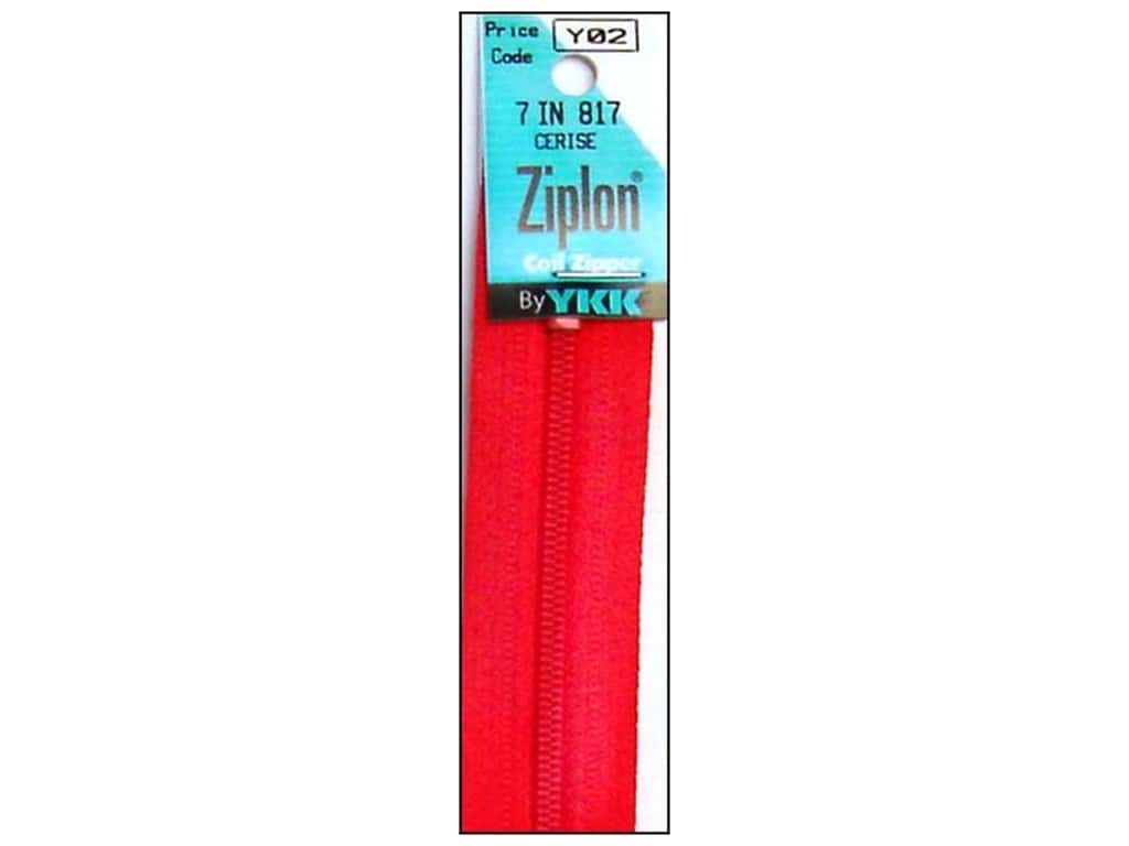 YKK Ziplon Coil Zipper 7 in. Cerise