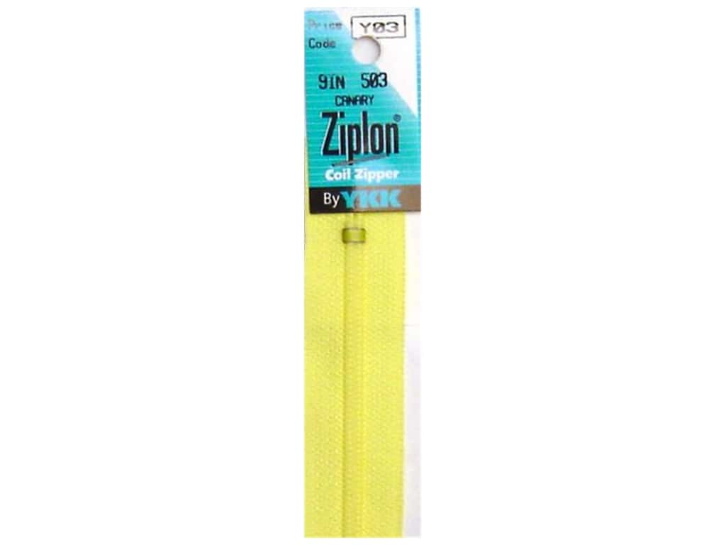 YKK Ziplon Coil Zipper 9 in. Canary