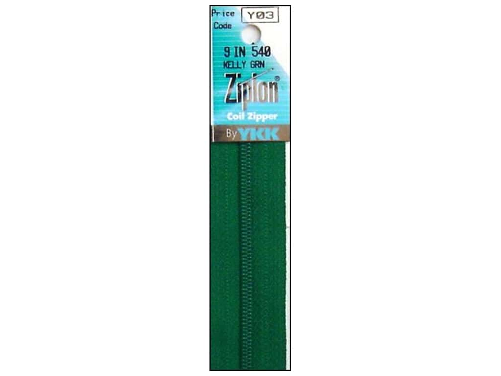 YKK Ziplon Coil Zipper 9 in. Green