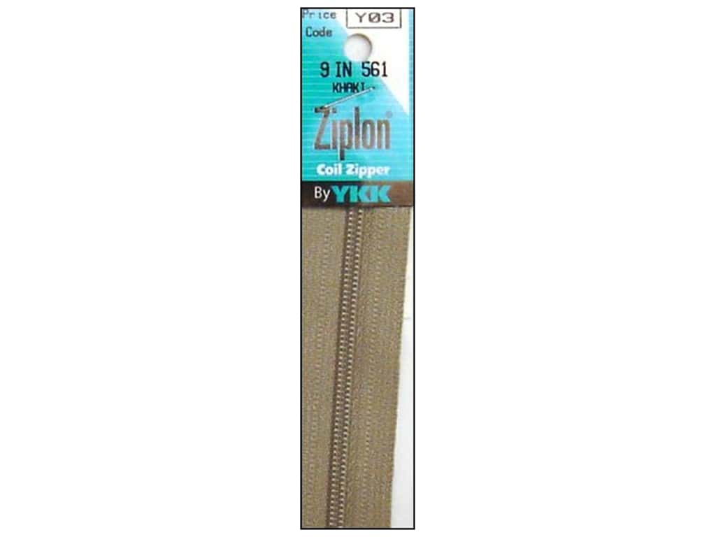 YKK Ziplon Coil Zipper 9 in. Khaki